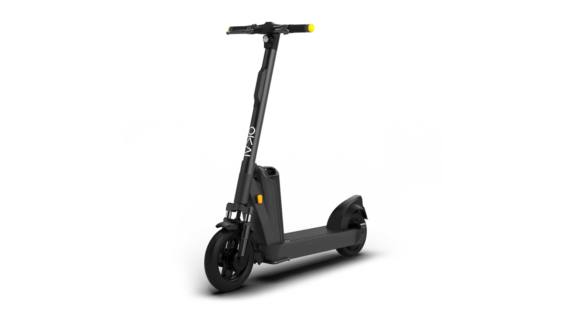 Ein Kick Scooter für Sharingflotten von der Firma OKAI.